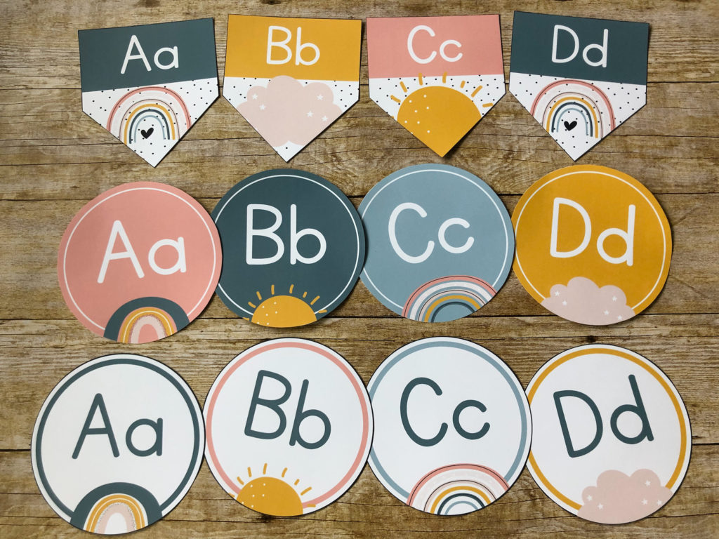 Boho Rainbow Classroom Decor Heart Of The Class
